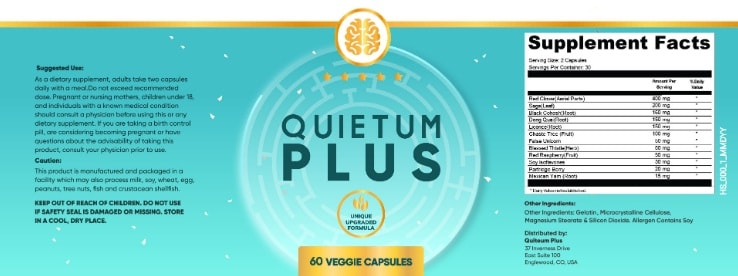 quietum plus label