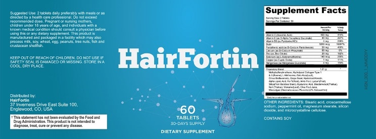 hairfortin label