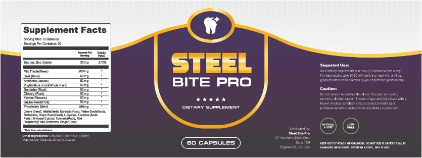 steel bite pro label
