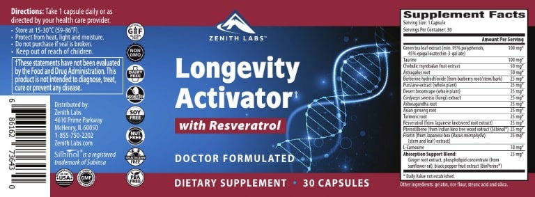 longevity activator ingredients
